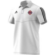 Kirby Muxloe CC Adidas White Polo