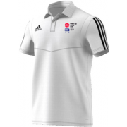 Potters Bar CC Adidas White Polo