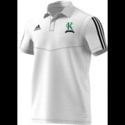Kew CC Adidas White Polo