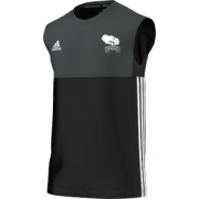 Mersham le Hatch CC Adidas Black Training Vest