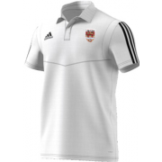 Lancaster University CC Adidas White Polo
