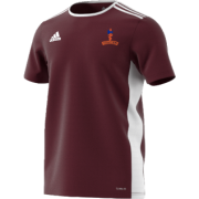 Milstead CC Adidas Maroon Junior Training Jersey