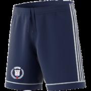 East Oxford CC Adidas Navy Junior Training Shorts