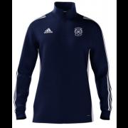 Eynsford CC Adidas Navy Zip Junior Training Top
