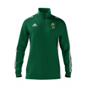 East Herts Cavaliers CC Adidas Green Zip Junior Training Top