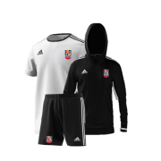 Sileby Town CC Training Bundle - White Jersey, Black Shorts and Black Hoody