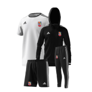 Sileby Town CC Training Bundle - White Jersey, Black Shorts, Black Hoody and Black Training Pants