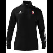 Sileby Town CC Adidas Black Zip Junior Training Top
