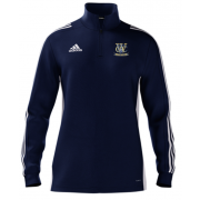 Woodley CC Adidas Navy Zip Junior Training Top