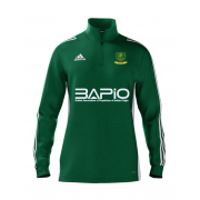 St Georges CC Adidas Green Zip Training Top