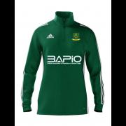 St Georges CC Adidas Green Zip Junior Training Top