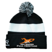 Just 4 Keepers Black AR Bobble Beanie