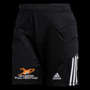 Just 4 Keepers Adidas Tierro Black Junior Goalkeeper Shorts