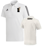 Reigate Priory CC SUPPORTERS Adidas White Polo