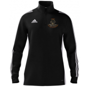 Wavertree CC Adidas Black Zip Junior Training Top