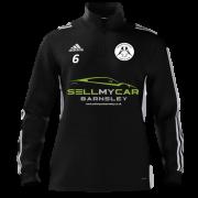 Hoyland Town Magpies Adidas Black Zip Junior Training Top