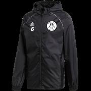 Hoyland Town Magpies Adidas Junior Black Rain Jacket