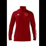 JML Cricket Adidas Red Zip Junior Training Top