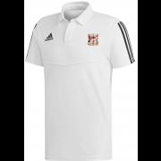 Cardiff CC Adidas White Polo