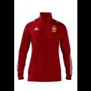 Barrow CC Adidas Red Zip Junior Training Top