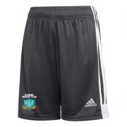 Darwen CC Towers Adidas Black Junior Training Shorts