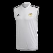 Stocksfield CC Adidas White Training Vest
