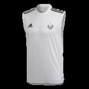 New Earswick CC Adidas White Training Vest