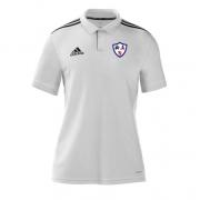 Dunfermline CC Adidas White Polo