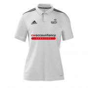 Beckington CC Adidas White Polo