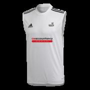Beckington CC Adidas White Training Vest