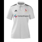 Hertford CC Adidas White Polo