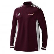Nomads CC Adidas Maroon Zip Training Top