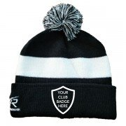 Nidderdale League Black Bobble Beanie