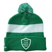 Tintwistle CC AR Green Bobble Beanie