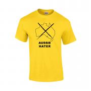 """""""Aussie hater"""" Slogan T-Shirt"""