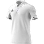 Oxton CC Adidas White Polo Shirt