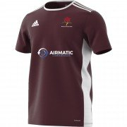 Winton CC Adidas Maroon Junior Training Jersey