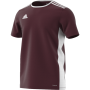 St Asaph CC Adidas Maroon Junior Training Jersey
