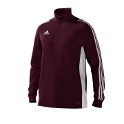 Luton Town & Indians CC Adidas Maroon Junior Training Top