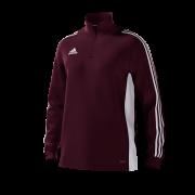 St Asaph CC Adidas Maroon Junior Training Top
