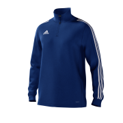 Fiskerton & Thurgarton CC Adidas Navy Junior Training Top