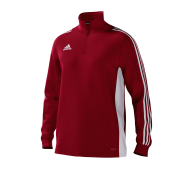 Darcy Lever CC Adidas Red Junior Training Top