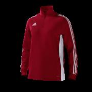 Locks Heath CC Adidas Red Junior Training Top