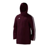 Luton Town & Indians Cricket Club Maroon Adidas Stadium Jacket