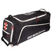 2020 Gray Nicolls GN 500 Wheelie Cricket Bag - Black & Silver
