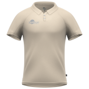 Samurai Cream Short Sleeve Cricket Shirt Back