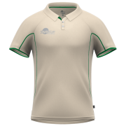 Samurai Green Short Sleeve Cricket Shirt Front