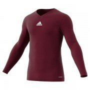 Adidas Long Sleeve Maroon Junior Base Layer
