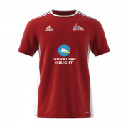 Gibraltar CC Adidas Red Training Jersey