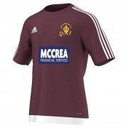 West of Scotland CC Adidas Maroon Junior Training Jersey